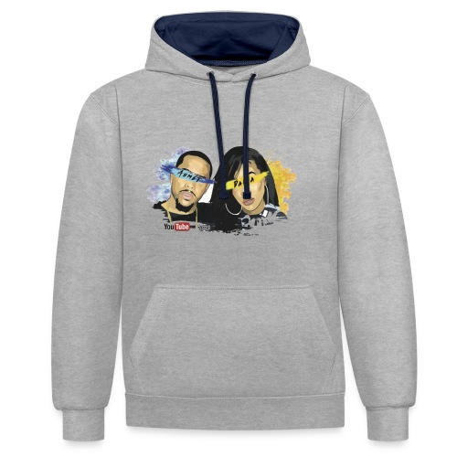 Daina and Ahmet - Contrast Colour Hoodie