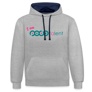 I AM PODOTALENT collectie T-Shirt White/Neongroen - Contrast hoodie