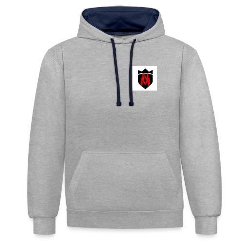 Weißer Hoodi mit neuem Logo - Kontrast-Hoodie