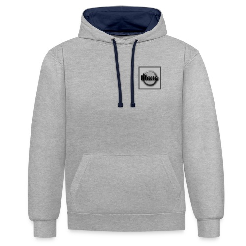 YouTube Channel Logo - Contrast Colour Hoodie