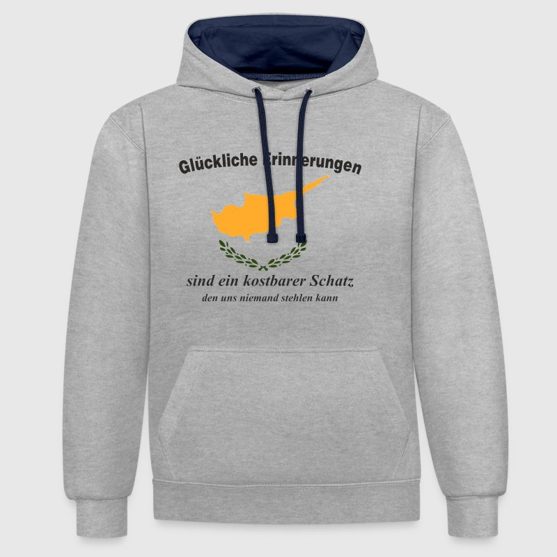 Happy memories Cyprus - Contrast Colour Hoodie