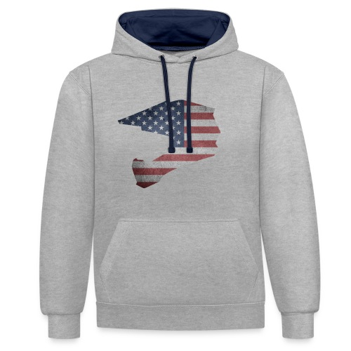 DOWNHILL HELM USA STYLE - Kontrast-Hoodie