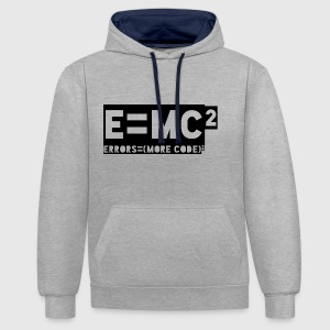 E = mc2 - erreurs = (plus de code) 2 - Sweat-shirt contraste