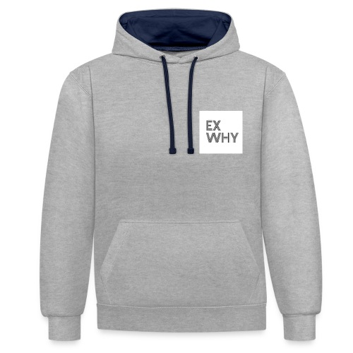 EX WHY logo - Contrast Colour Hoodie