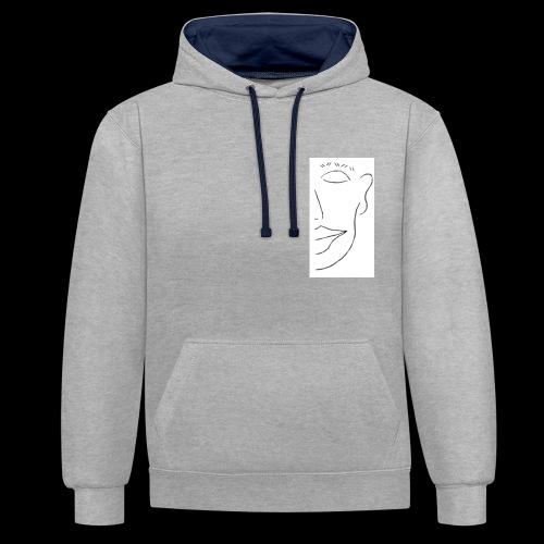 Peeping Tom Logo - Kontrast-Hoodie