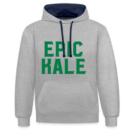 Epic Kale - Contrast Colour Hoodie