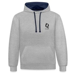 queens logo - Kontrast-hettegenser