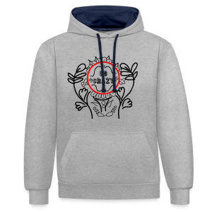 Go Crazy Flower - Contrast hoodie