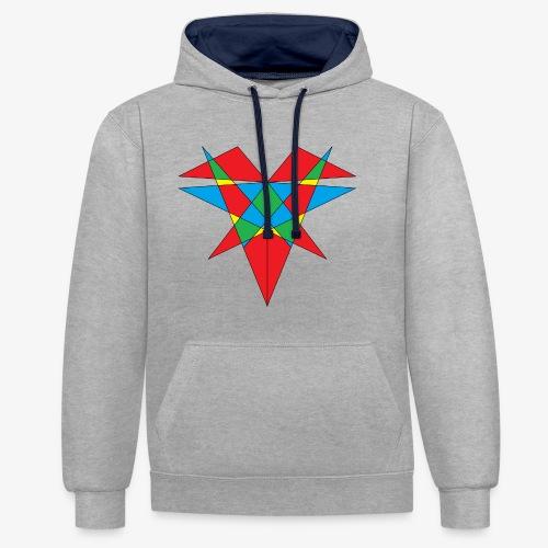 <3 - Contrast hoodie