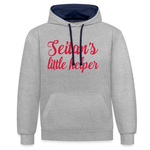 Seitan's Little Helper - Contrast Colour Hoodie