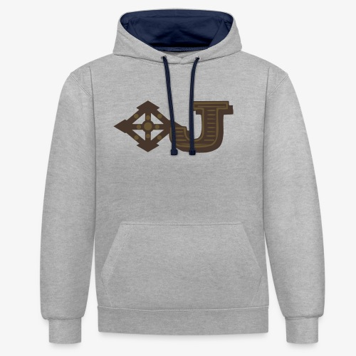 Jambo Airways Logo - Contrast Colour Hoodie