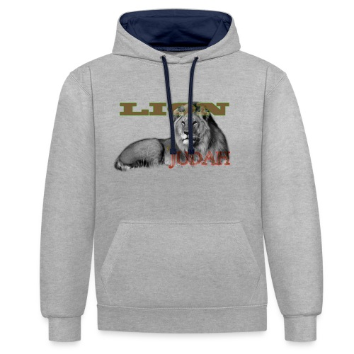 Lrg Judah Tribal Gears - Contrast Colour Hoodie