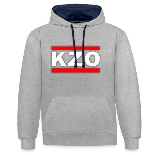 KZO - Kontrast-Hoodie