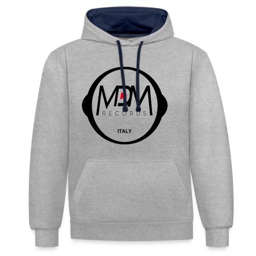 MDM Records Logo Ufficiale - Felpa con cappuccio bicromatica