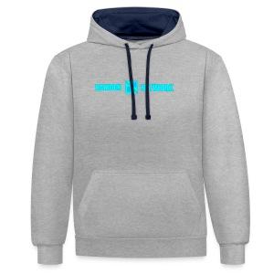 RandomNetwork White Hoodie (Design 2) - Contrast hoodie