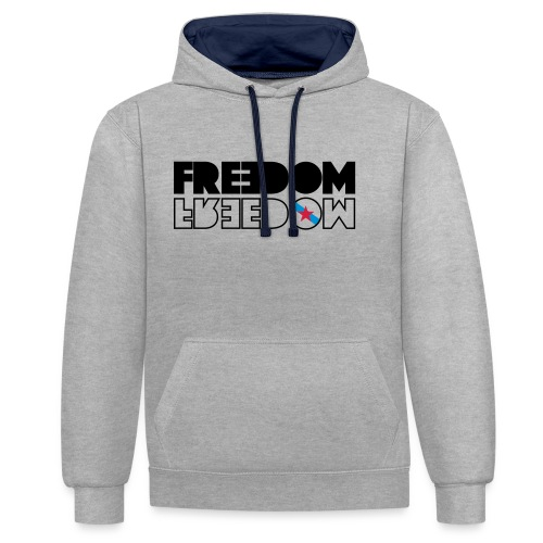 FREEDOM GALICIA - Sudadera con capucha en contraste