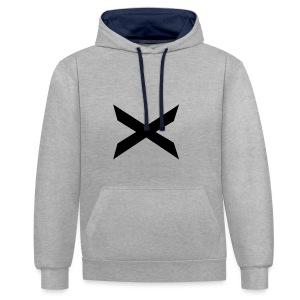 X-hoodie - Kontrast-hettegenser