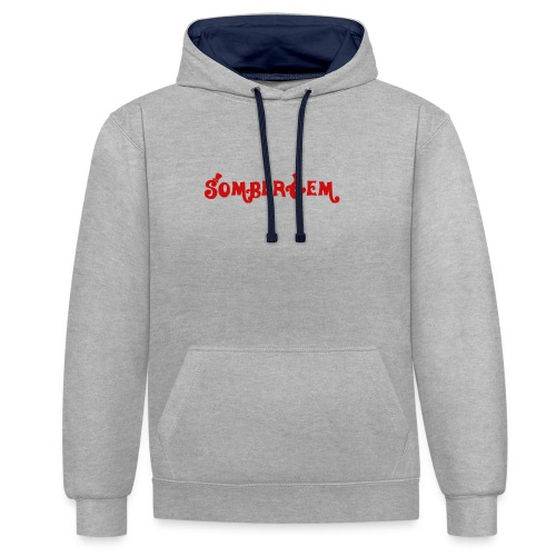 Somber Text - Contrast Colour Hoodie