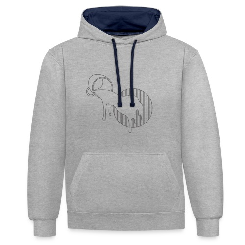 Spilled - Contrast hoodie