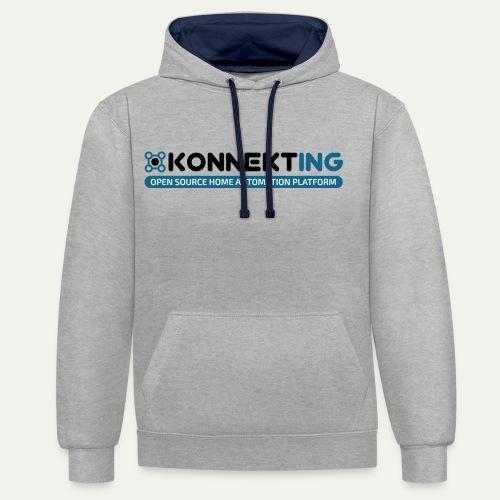 KONNEKTING Logo - Kontrast-Hoodie