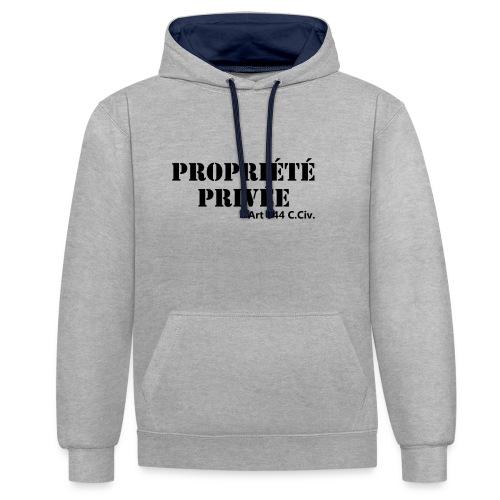 Propriété privée - Sweat-shirt contraste