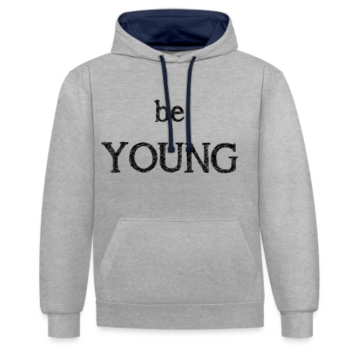 Be Young - Sweat-shirt contraste