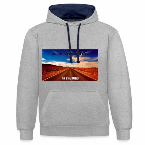 Enjoy a perfect life - On the Road - Sweat-shirt contraste