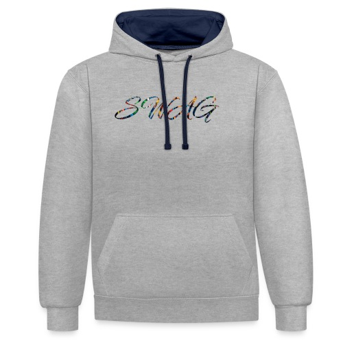 Texte 'Swag' - Sweat-shirt contraste
