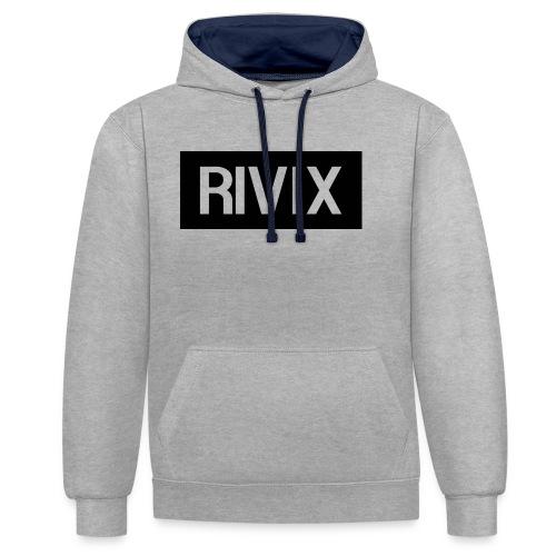 Rivix black box - Contrast Colour Hoodie