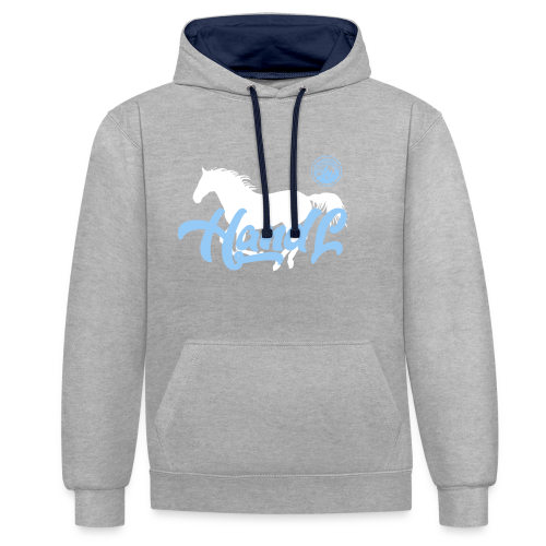 H&l denim Simple Horse - Sweat-shirt contraste