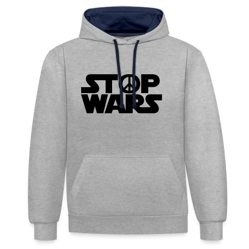 Stop Wars - Sweat-shirt contraste