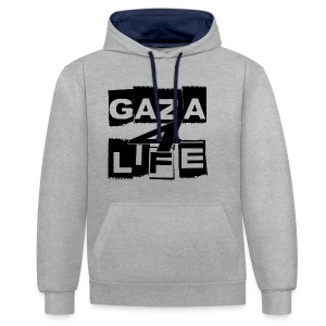 Gaza 4 Life [T-Shirt] - Contrast Colour Hoodie
