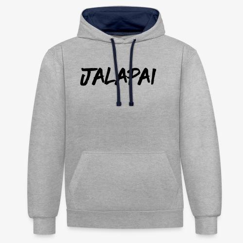 JalapaiSchrift1 - Kontrast-Hoodie