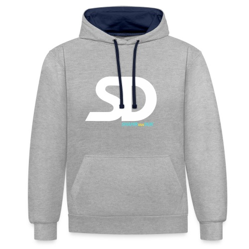 T-SHIRT-DESIGN-png - Contrast hoodie