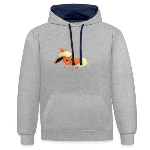 eevee - flareon - the sleppy one - Contrast Colour Hoodie