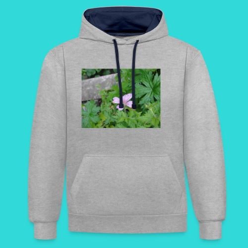 shirt bloem - Contrast hoodie