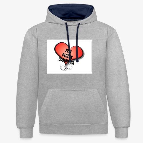 saint valentin coeur amour - Sweat-shirt contraste