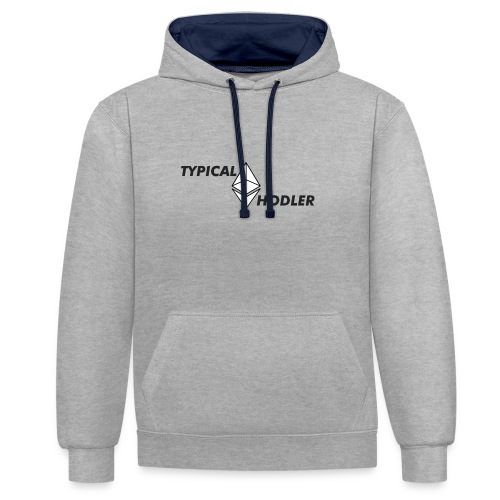 Typical ETH Hodler - Contrast Colour Hoodie