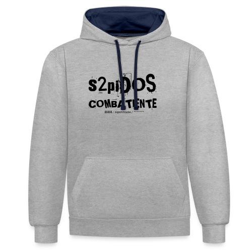 s2pidos combatiente (superviviente) - Contrast hoodie