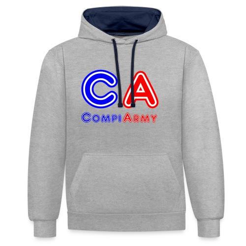 CompiArmy Design | bit.ly/compiarmyyt - Kontrast-Hoodie