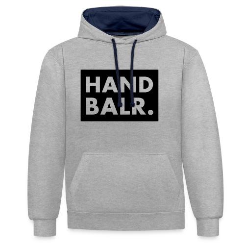 Handbalr Wit - Contrast hoodie