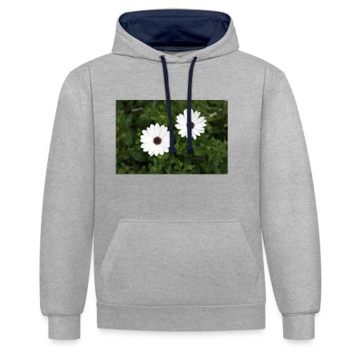 primaverapetalosa - Felpa con cappuccio bicromatica