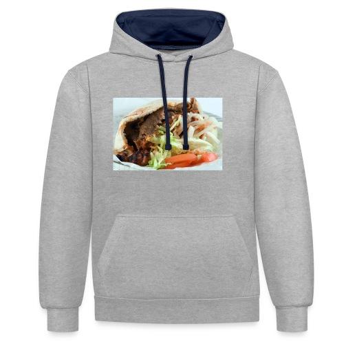 kebab trøje - Kontrast-hættetrøje