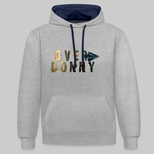 Over Donny [Arrow Version] - Felpa con cappuccio bicromatica