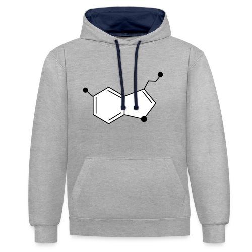 Serotonine - Felpa con cappuccio bicromatica