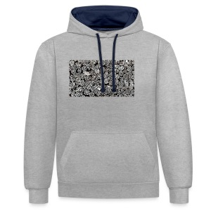 Pattern - Contrast Colour Hoodie