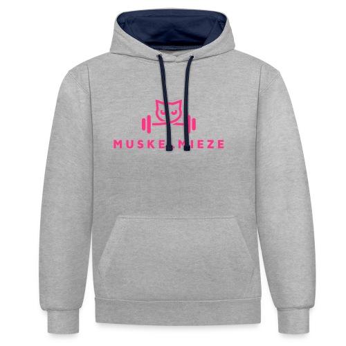 Muskelmieze Pink - Kontrast-Hoodie