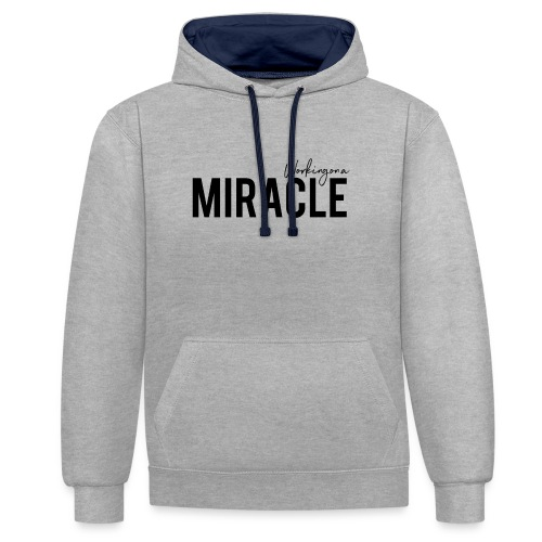 Working on a miracle IVF Top - Contrast Colour Hoodie