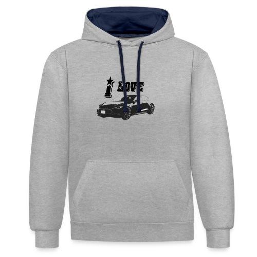 Tesla Model S - Contrast hoodie