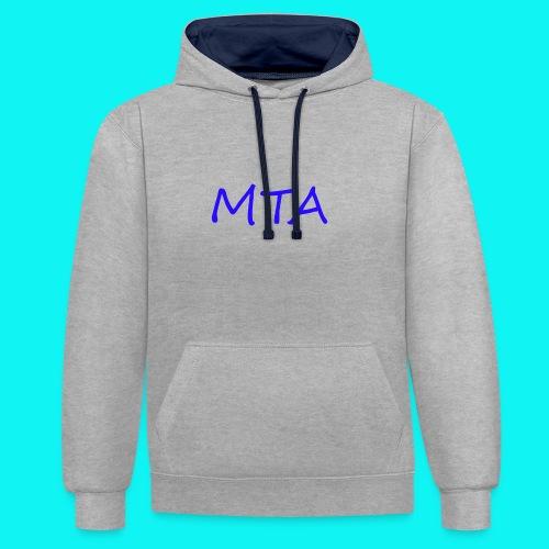 #MTA t-shirts - Kontrast-hættetrøje